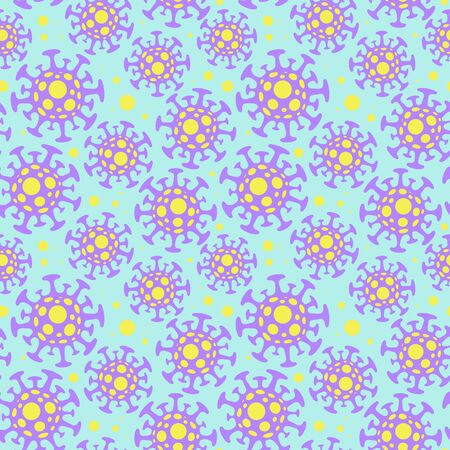 Coronavirus pattern with bacteria color style