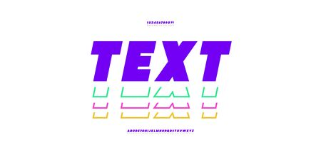 Vector bold font color style