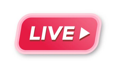 Vector live streaming icon 3d modern style
