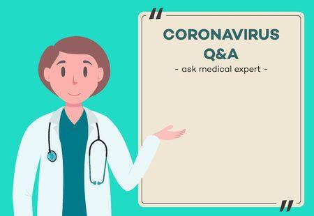 Doctor concept - medical professional Illustration