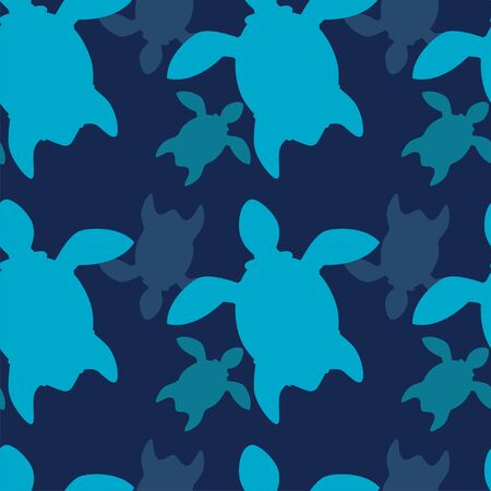 turtles silhouettes seamless template. linear graphics. Animal world under water. Ocean Modern abstract design for paper, cover, fabric, interior decor
