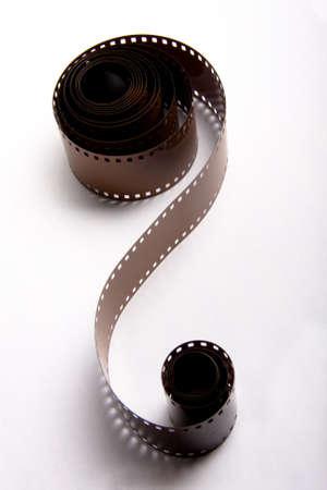 35mm: 35mm film rolls on white background