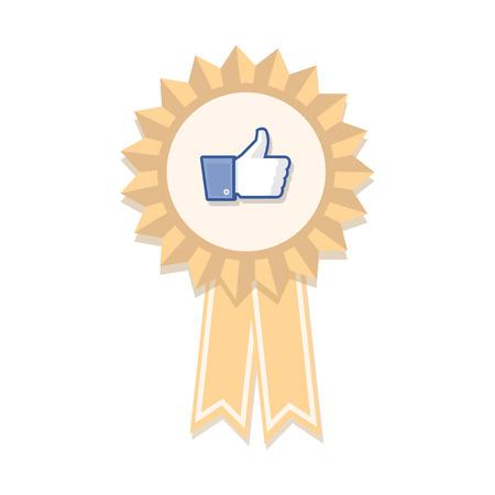ThumbsUp Like badge Reklamní fotografie - 36925052
