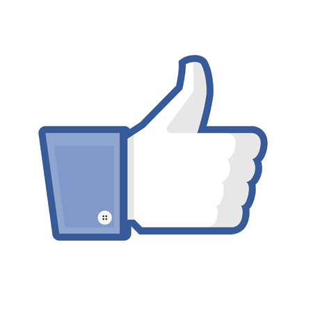 ThumbsUp Like button Ilustrace