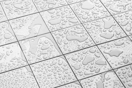white tile: Wet Floor Square Tile