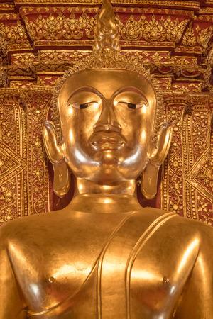 head wise: golden buddha statue