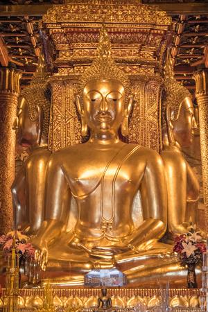 paper sculpture: golden buddha statue
