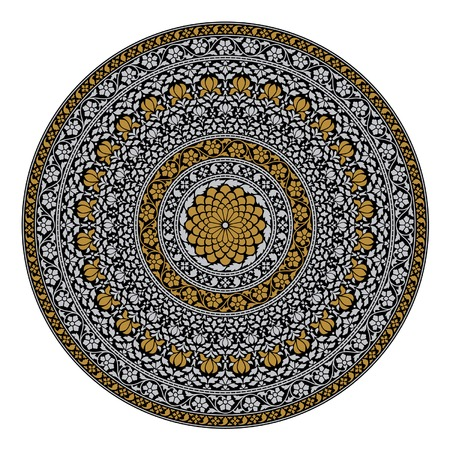 Indian circular ornament