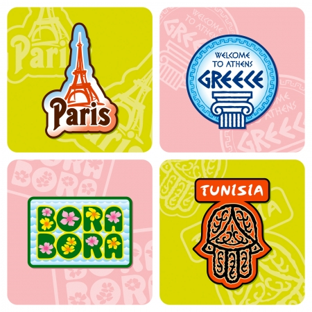 Travel stickers set Stock Vector - 5308722