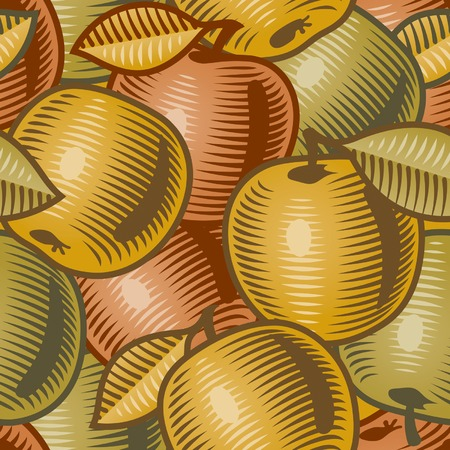 Retro apple background Illustration