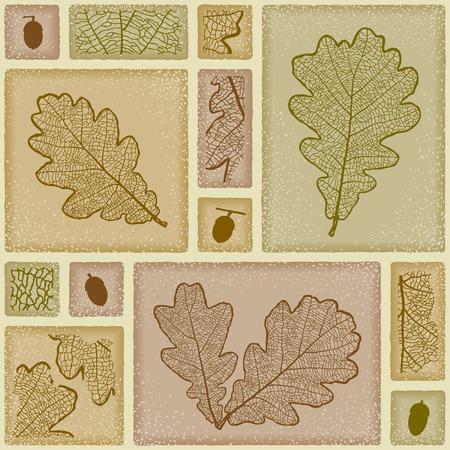 Seamless oak pattern Illustration