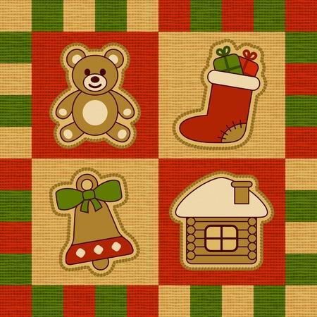 homespun: Tejido de Navidad