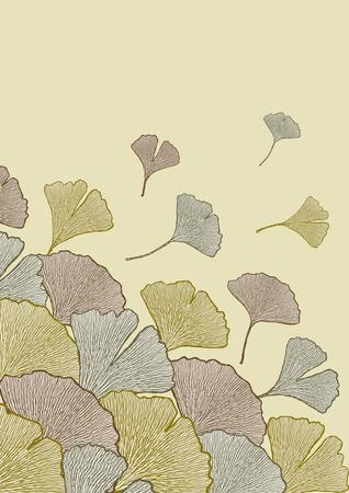 ginkgo leaf: Fall of leaves Illustration