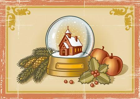 Retro Christmas card Stock Vector - 5958579