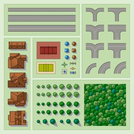topografia: Conjunto de elementos del mapa Vectores