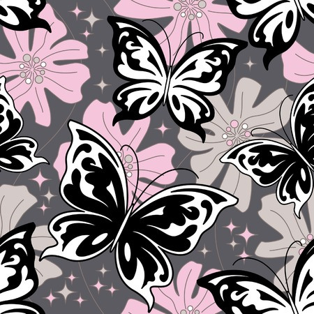 Night butterfly background Vector