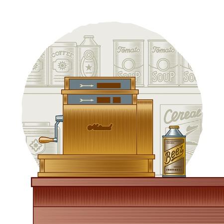 food store: Retro cash register