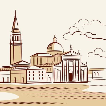 cathedrals: Venetian landscape