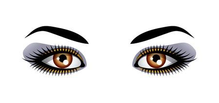 open eye: Female eyes
