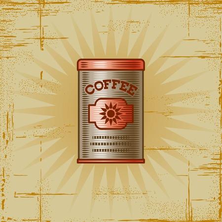 Retro Coffee Can Vector