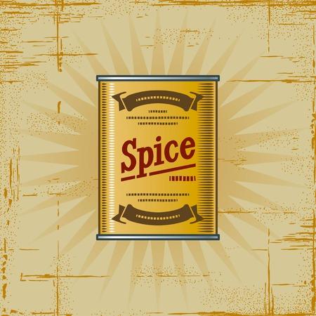 Retro Spice Can Vector