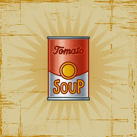 canned food: Retro Tomato Soup Can