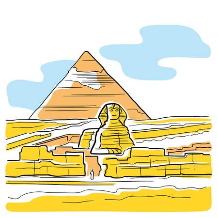 the sphinx: Sphinx and Great Pyramid