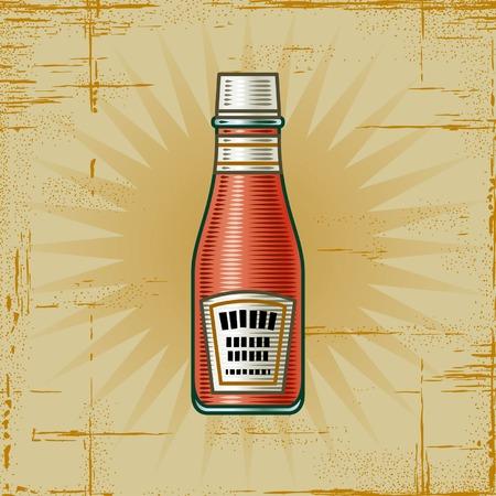 Retro Ketchup Bottle Stock Vector - 6772464