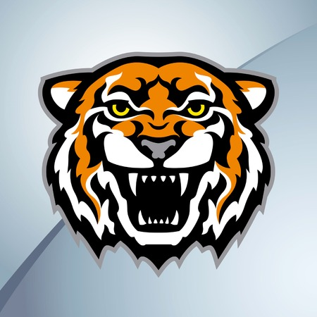 cartoon mascot: Tiger head mascot