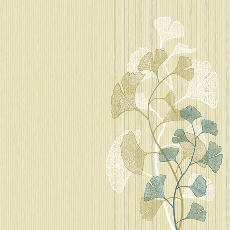 Ginkgo background Illustration