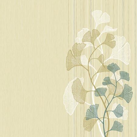ginkgo leaf: Ginkgo background Illustration