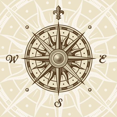 Vintage compass rose Stock Vector - 7360639