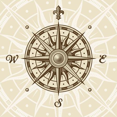 rose: Vintage compass rose