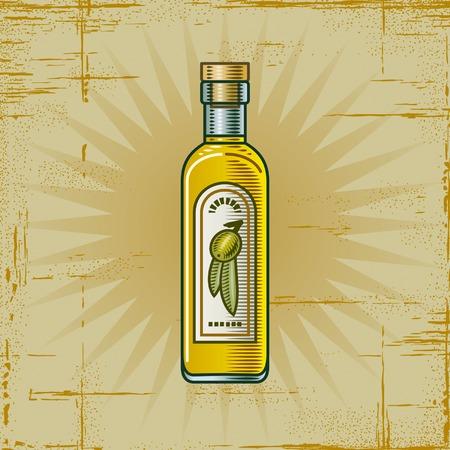 botella de aceite de oliva: Botella de aceite de oliva retro