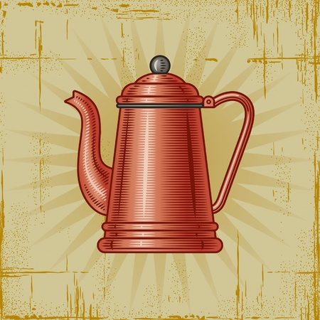 old kitchen: Retro Coffee Pot