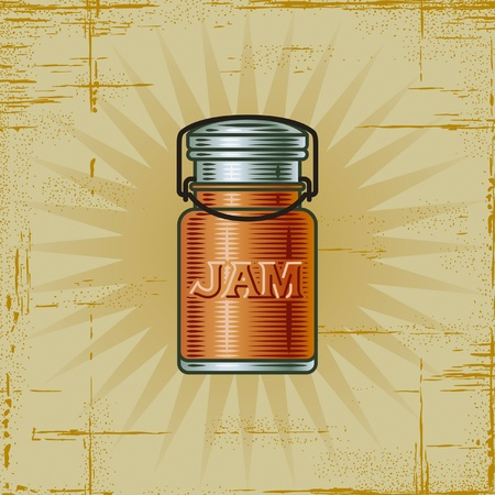 jam jar: Retro Jam Jar