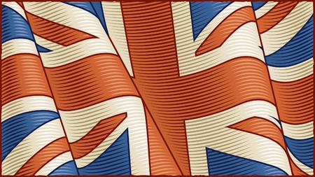 Vintage British Flag (close-up) Stock Vector - 9946044