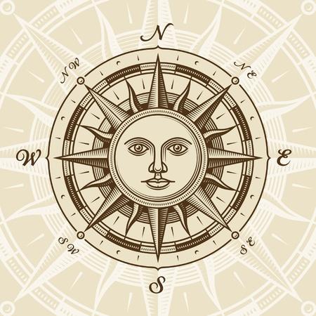 kompassrose: Jahrgang Sun Compass rose