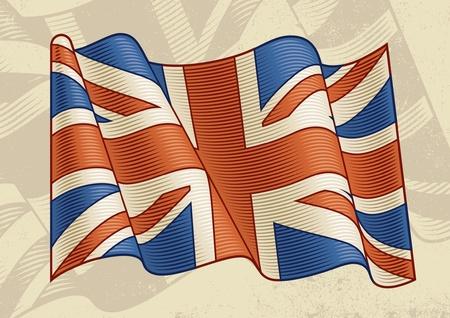 british culture: Vintage bandera brit�nica