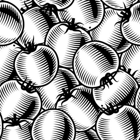 tomato: Seamless tomato background black and white