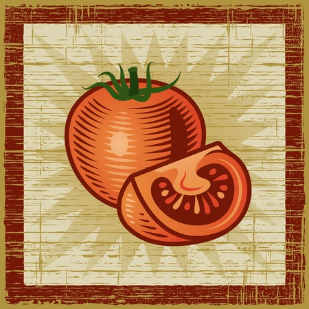 Retro tomato Stock Vector - 10319789