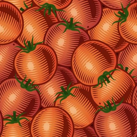 Seamless tomato background Stock Vector - 10319787