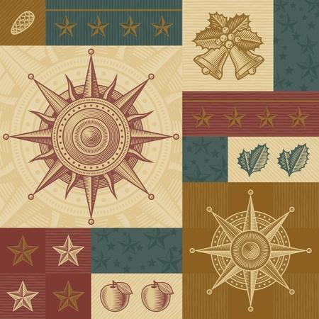 Retro Christmas pattern Illustration