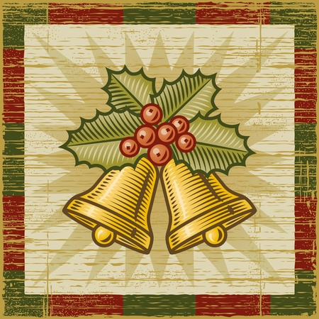 Retro Christmas bells Stock Vector - 11621140