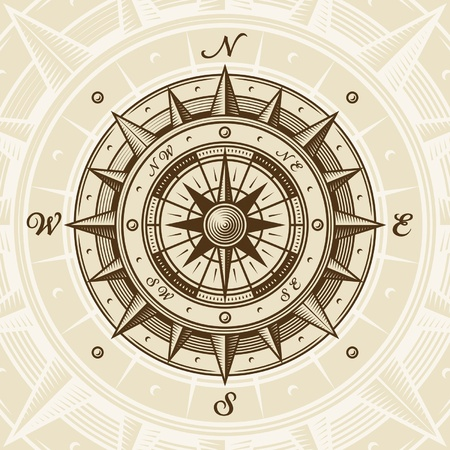 Vintage compass Stock Vector - 12932008
