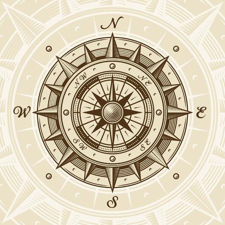 nautical star: Vintage compass