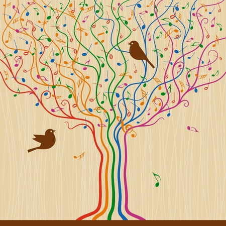 music stave: Musical Tree