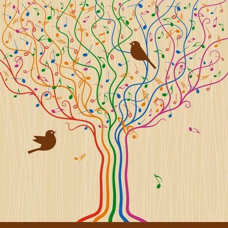 Musical Tree Banco de Imagens - 13547765
