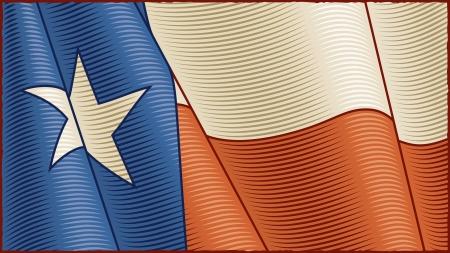 Vintage Texas Flag (close-up) Stock Vector - 13762596