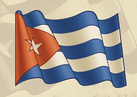 cubana: Bandera Cubana Vintage